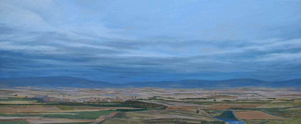 Paisaje de Haro desde San Felices, obra de Carlos Rosales y propiedad del Ayuntamiento de Haro