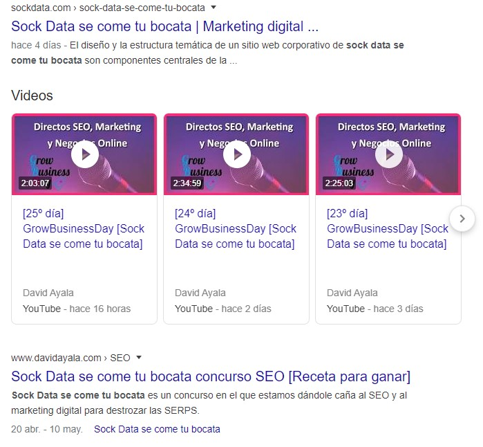 sock data se come tu bocata concurso