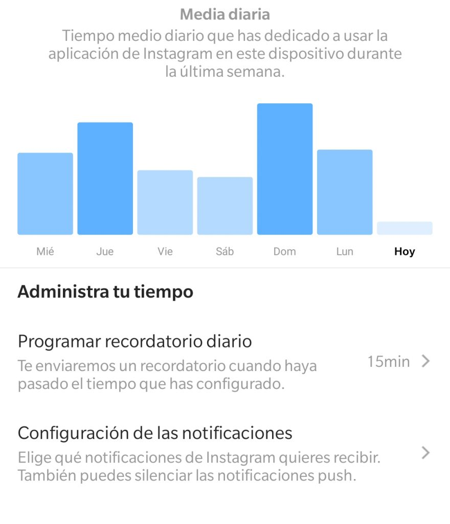 Cómo saber cuánto tiempo pasas en Instagram y cómo controlarlo