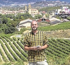 David, en Elciego, en una imagen de mi compañero Justo Rodríguez