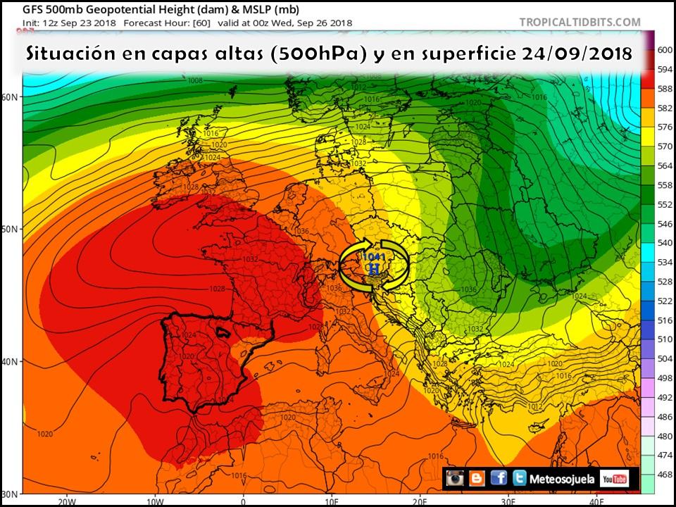 Modelos de Altura Geopotencial a 500hPa y presión en superficie. Meteosojuela