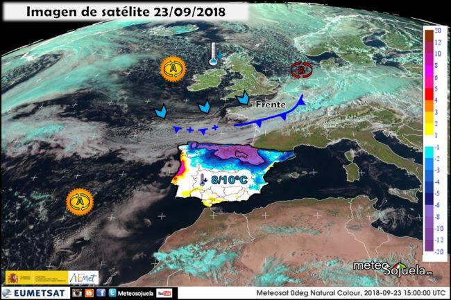 Imágenes de satélite.Meteosojuela